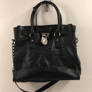 "MICHAEL KORS ""Hamilton"" bag with silver hardware"
